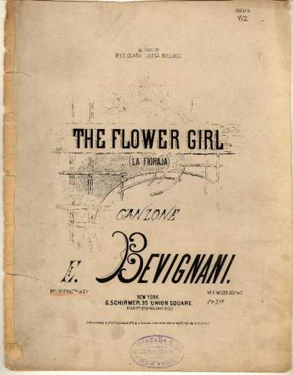 Sheet Music - Flower girl; Fioraja; Canzone