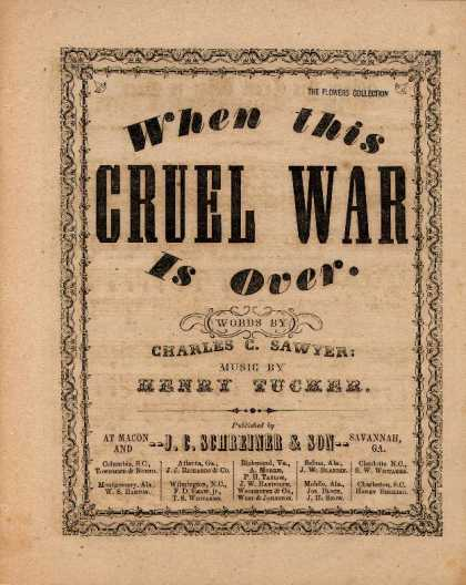 Sheet Music - When this cruel war is over