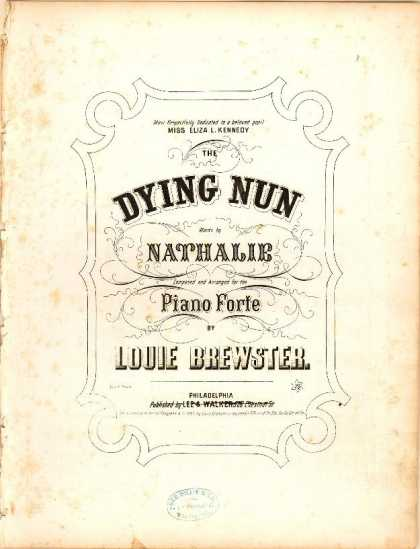 Sheet Music - The dying nun