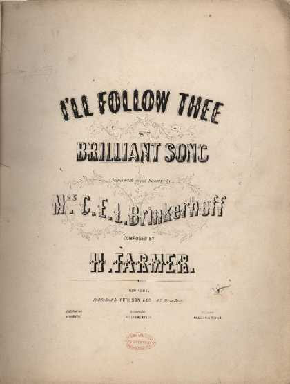 Sheet Music - I'll follow thee