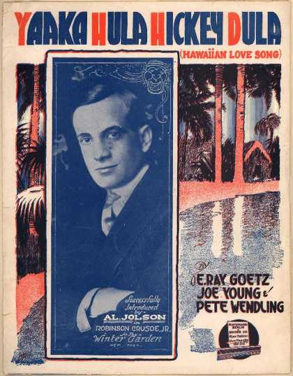 Sheet Music - Yaaka hula hickey dula; Hawaiian love song