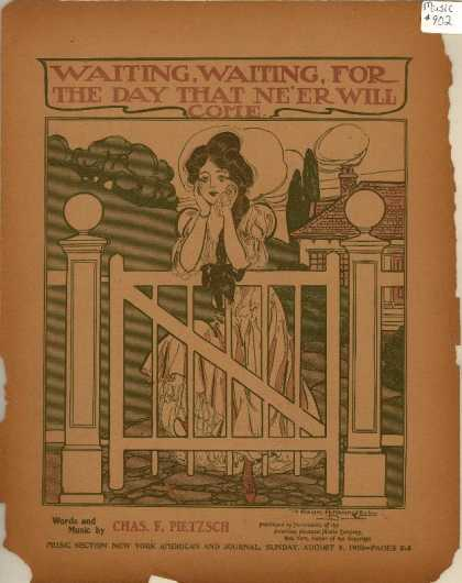 Sheet Music - Waiting, waiting, for the day that ne'er will come