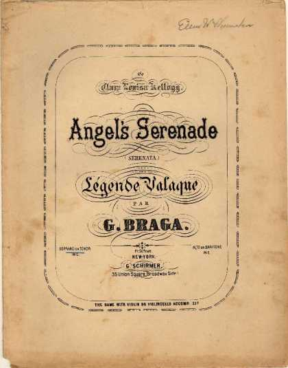 Sheet Music - Angel's serenade