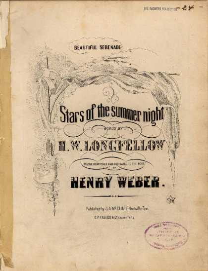 Sheet Music - Stars of the Summer Night; Beautiful serenade