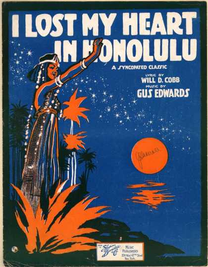 Sheet Music - I lost my heart in Honolulu; A syncopated classic