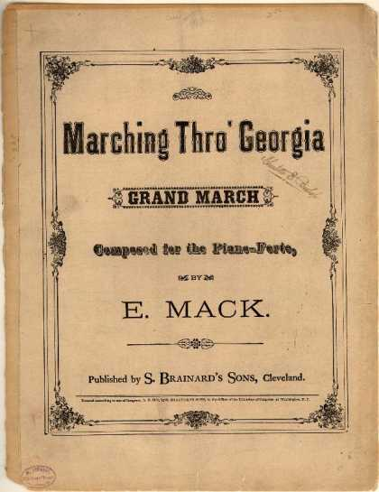 Sheet Music - Marching thro' Georgia