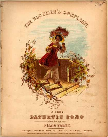 Sheet Music - The bloomer's complaint; A very pathetic song