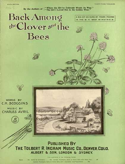 Sheet Music - Back among the clover and the bees