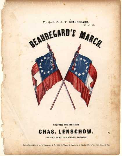 Sheet Music - Beauregard's march