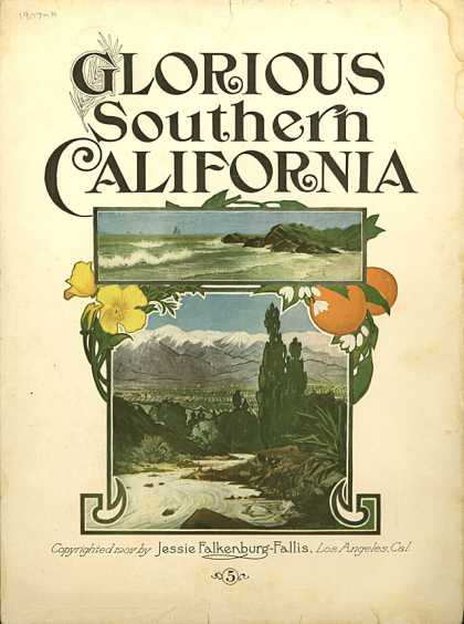 Sheet Music - Glorious Southern California