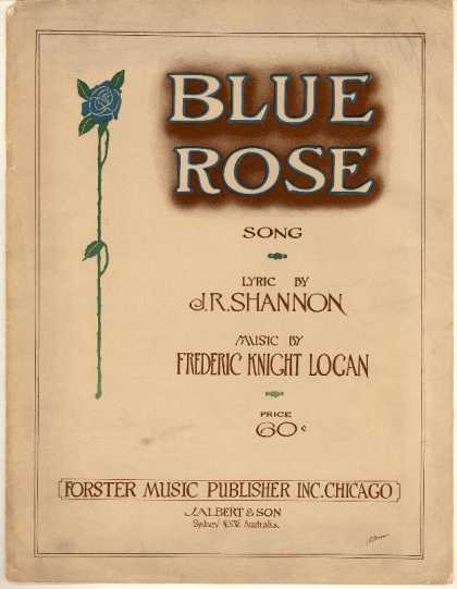 Sheet Music - Blue rose