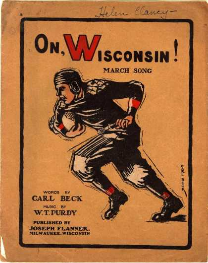 Sheet Music - On, Wisconsin!