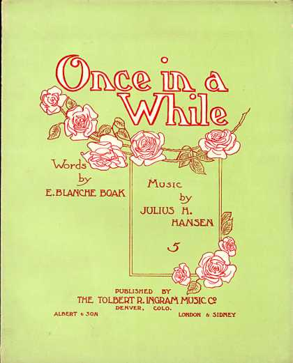 Sheet Music - Once in a while