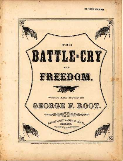 Sheet Music - Battle-cry of freedom; Rallying song