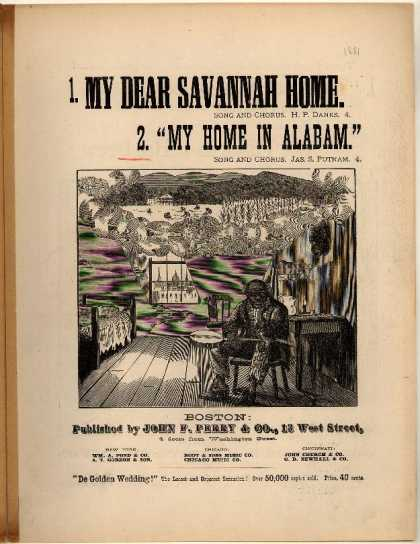 Sheet Music - My home in Alabam'