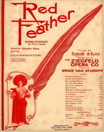 Sheet Music - Red feather