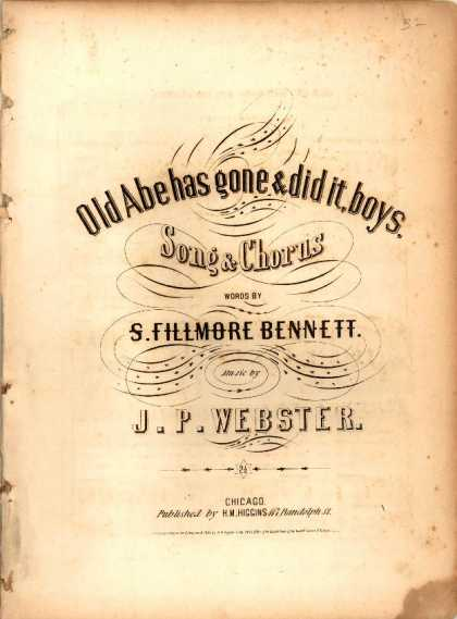 Sheet Music - Old Abe has gone and did it, boys