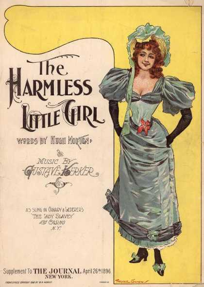 Sheet Music - The harmless little girl; The harmless little girl with the downcast eyes; Lady