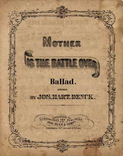 Sheet Music - Mother is the battle over