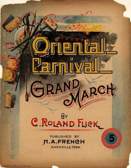 Sheet Music - Oriental carnival grand march