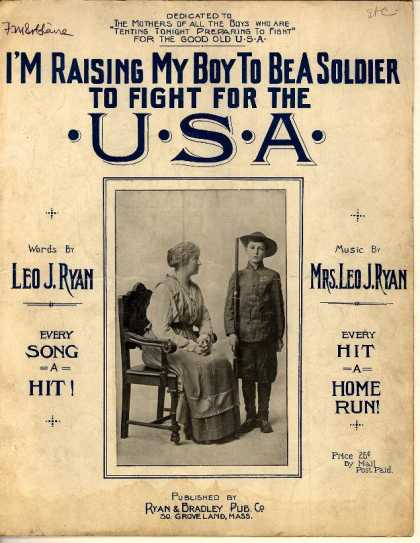 Sheet Music - I'm raising my boy to be a soldier to fight for the U.S.A.