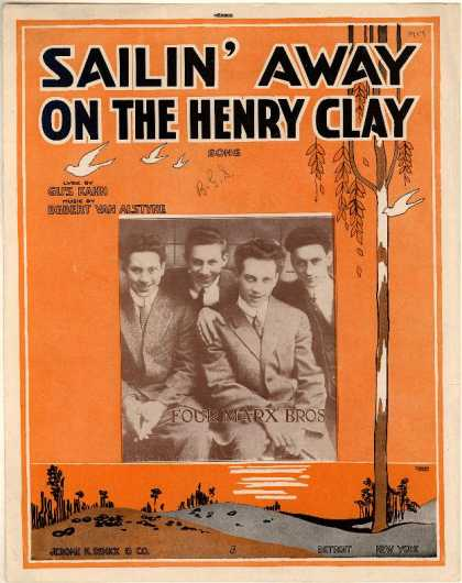 Sheet Music - Sailin' away on the Henry Clay