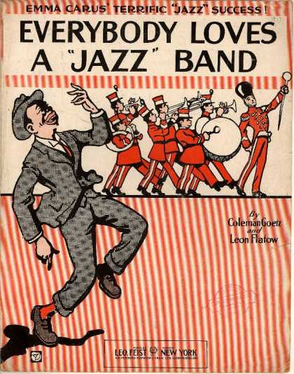 "Sheet Music - Everybody loves a ""jazz"" band"