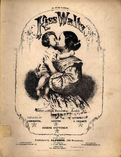 Sheet Music - Kiss waltz; Bacio; Kuss