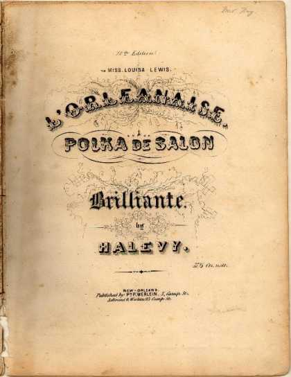 Sheet Music - L'Orleanaise; Polka de salon