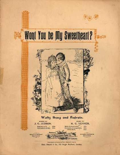 Sheet Music - Wont you be my sweetheart?