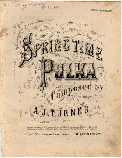 Sheet Music - Spring time polka