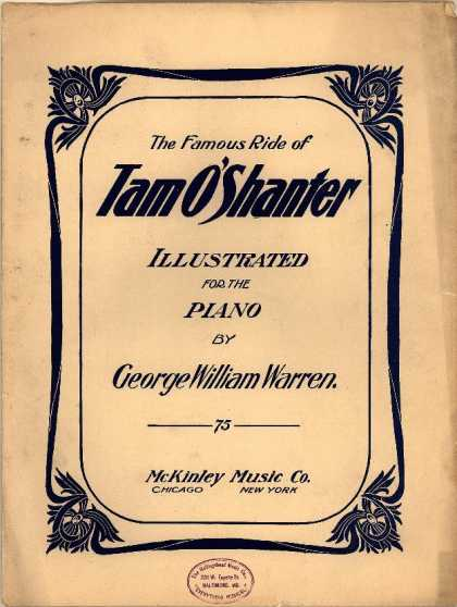 Sheet Music - Famous ride of Tam O'Shanter