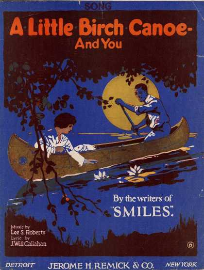 Sheet Music - Little birch canoe and you