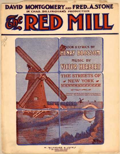 Sheet Music - The streets of New York; The red mill