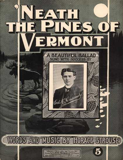 Sheet Music - 'Neath the pines of Vermont