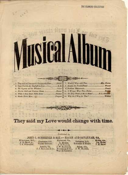 Sheet Music - They said my love would change with time