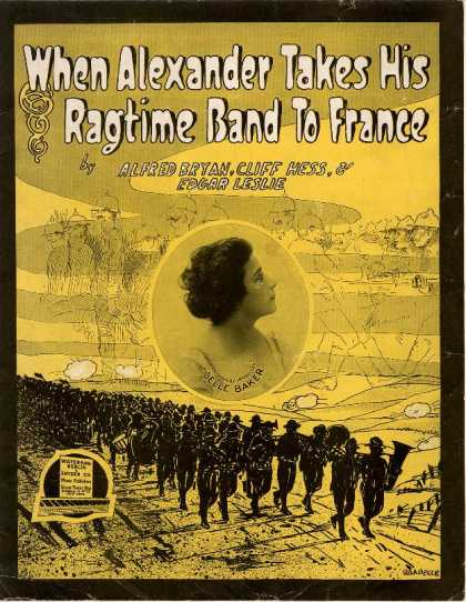 Sheet Music - When Alexander takes his ragtime band to France