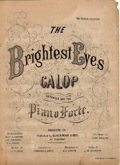Sheet Music - Brightest eyes galop