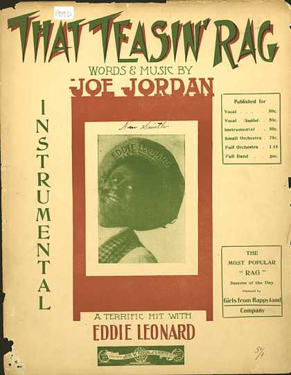 Sheet Music - That teasin' rag