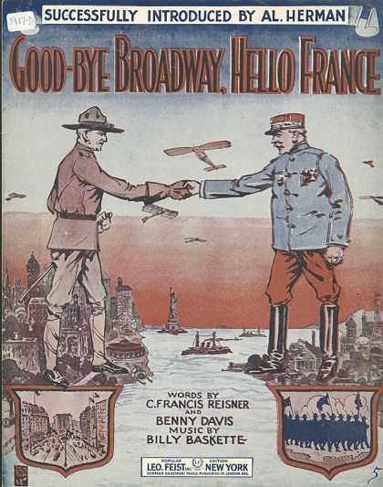 Sheet Music - Good-bye Broadway, hello France