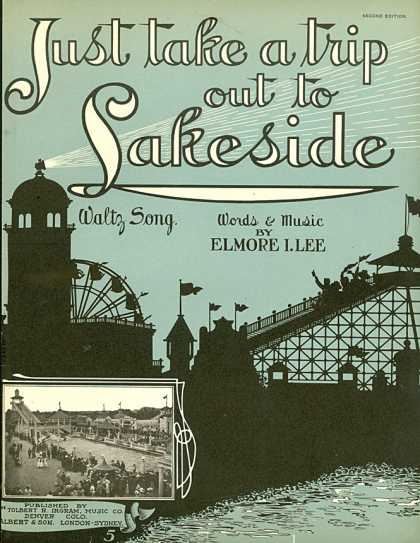 Sheet Music - Just take a trip out to Lakeside