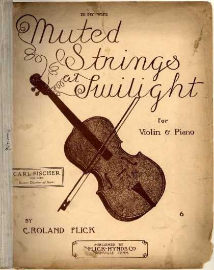 Sheet Music - Muted strings at twilight; op. 19