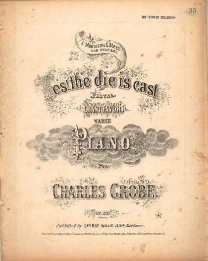 Sheet Music - Yes! the die is cast; Pestal chant favori varie pour lepiano; Op. 219