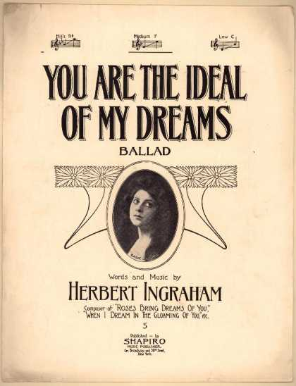Sheet Music - You are the ideal of my dreams