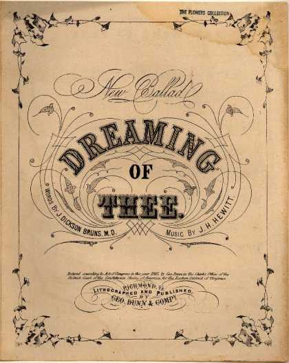 Sheet Music - Dreaming of thee