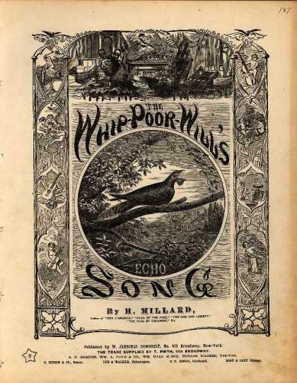 Sheet Music - The whip-poor-will's echo song; The whip-poor-will's echo song