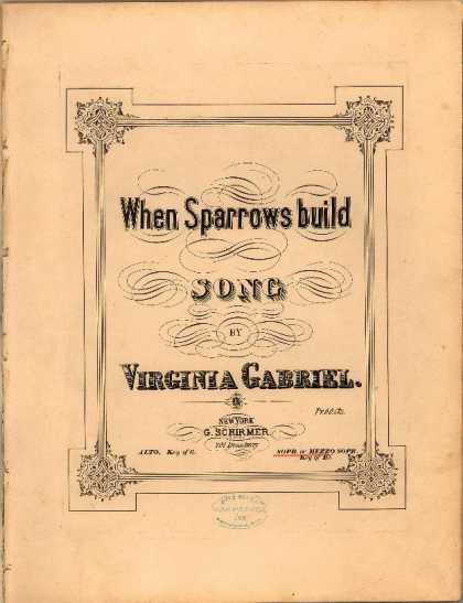 Sheet Music - When sparrows build