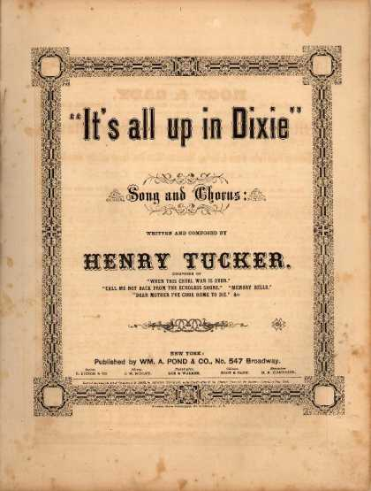 Sheet Music - It's all up in Dixie