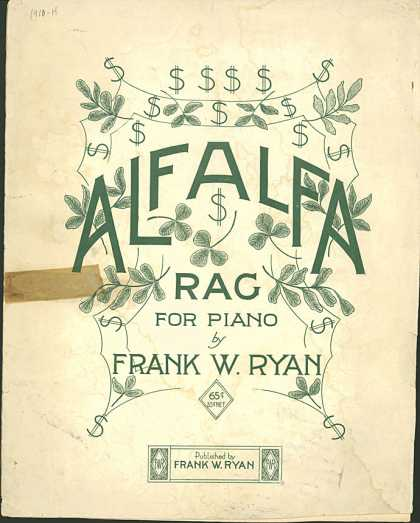 Sheet Music - Alfalfa rag