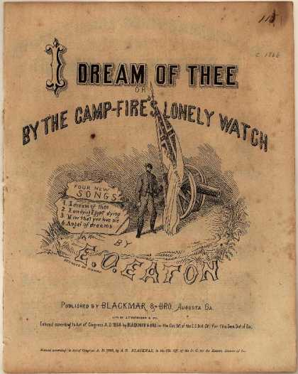Sheet Music - I dream of thee; By the camp-fire's lonely watch